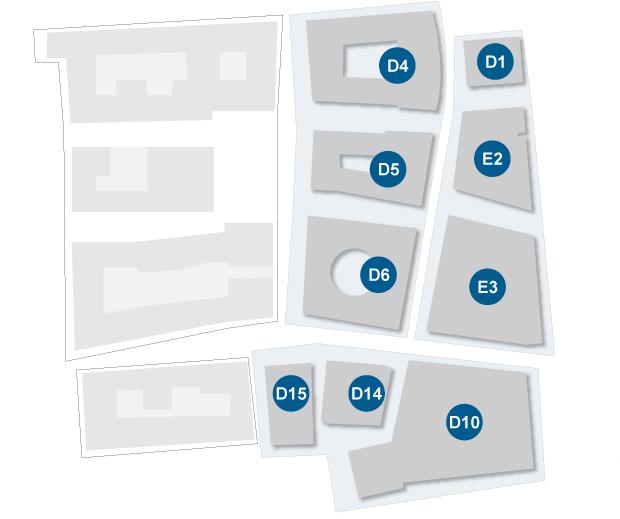 Mappa del polo di Novoli